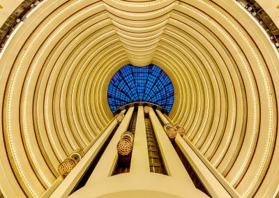 architectural photography spaces Holiday Inn Atrium Hotel Singapore Hotel Lobby Hero