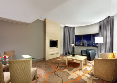 interior design photography Holiday Inn Atrium Hotel Singapore Suite Lounge
