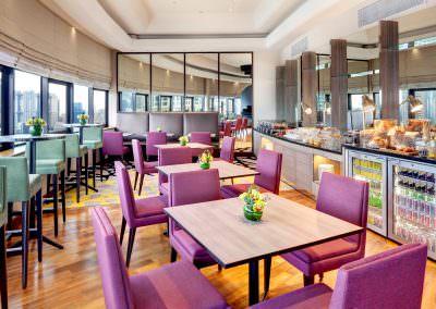 restaurant architecture photography Holiday Inn Atrium Hotel Singapore Executive Lounge