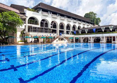architectural photography spaces Tanglin Club Singapore exterior Pool Day