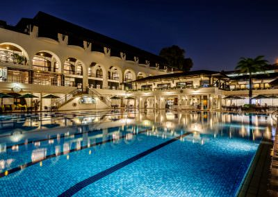 architectural photography spaces Tanglin Club Singapore Exterior Night Pool