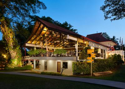 architectural photography spaces Swiss Club Singapore Arbenz Restaurant Exterior