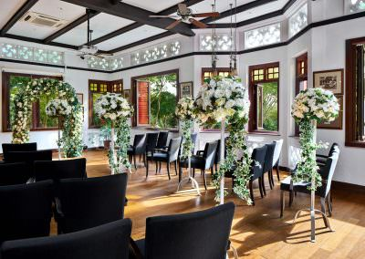 architectural photography ballrooms meeting rooms Swiss Club Singapore Rifle Lounge Wedding