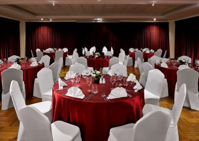 architectural photography ballrooms meeting rooms Swiss Club Singapore Wedding Setup