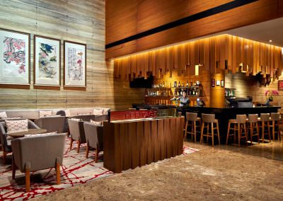 restaurant architecture photography Ramada Hotel at Zhongshan Park Singapore Heritage Bar and Lounge With Staff
