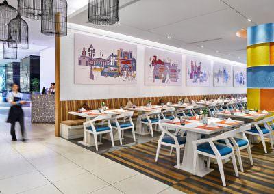 restaurant interior photography Days Hotel at Zhongshan Park Singapore 21 on Rajh Main Restaurant Staff Walking