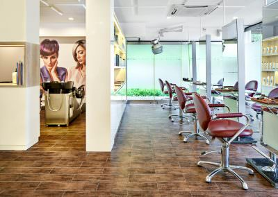interior photography spaces Tanglin Club Country Club Singapore Hair Salon