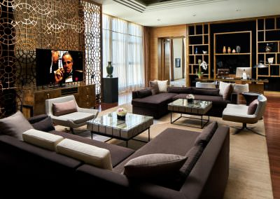 interior design photography of hotel ambassador suite living area in tianjin china