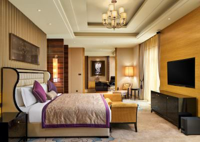 interior design photography jinnan presidential suite bedroom 2