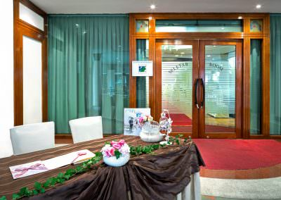 architectural photography ballrooms meeting rooms Seletar Club Singapore Seletar Room Entrance