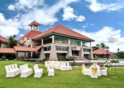 architectural photography spaces Seletar Club Singapore Exterior Wedding Setup