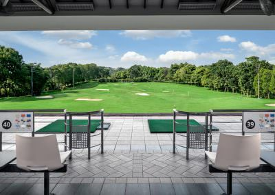 architectural photography spaces Seletar Club Singapore Driving Range