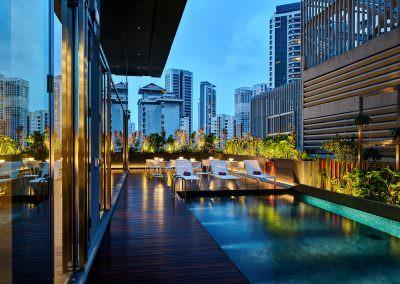 18-Interior Photography Singapore-Yotel - Pool Dusk