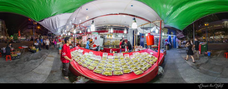 Virtual Tour Singapore Durian Bugis Street