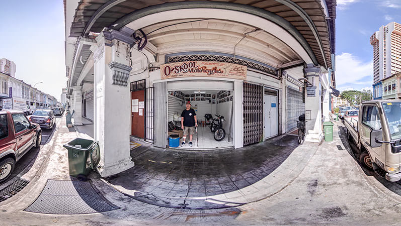 Virtual Tour of O-Skool Motorcycles in Singapore