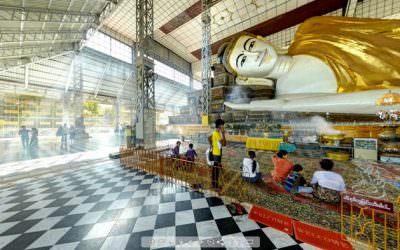 Virtual Tour of Shwethalyaung Buddha in Bago, Myanmar