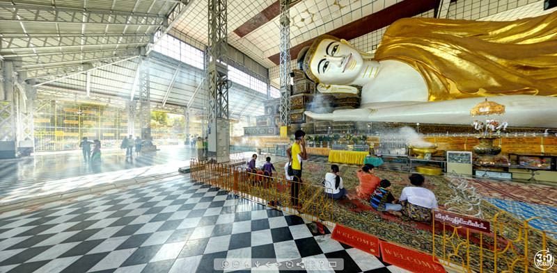 Virtual Tour of Shwethalyaung Buddha in Bago, Myanmar