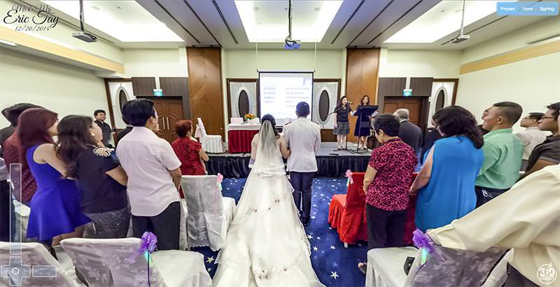 Virtual Tour of the Tay Wedding in Singapore