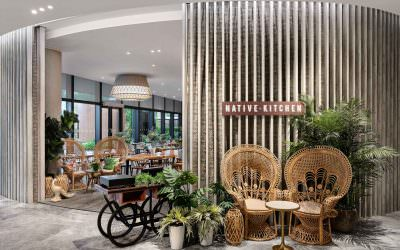 Updated Interior Photography for Native Kitchen in Village Hotel at Sentosa