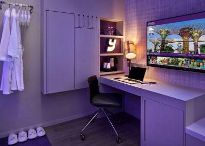 51-Interior Photography Singapore-Yotel - Suite Bedroom Desk Detail 2