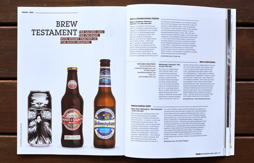 Cover of Drink Magazine 03 Showing three beers for review