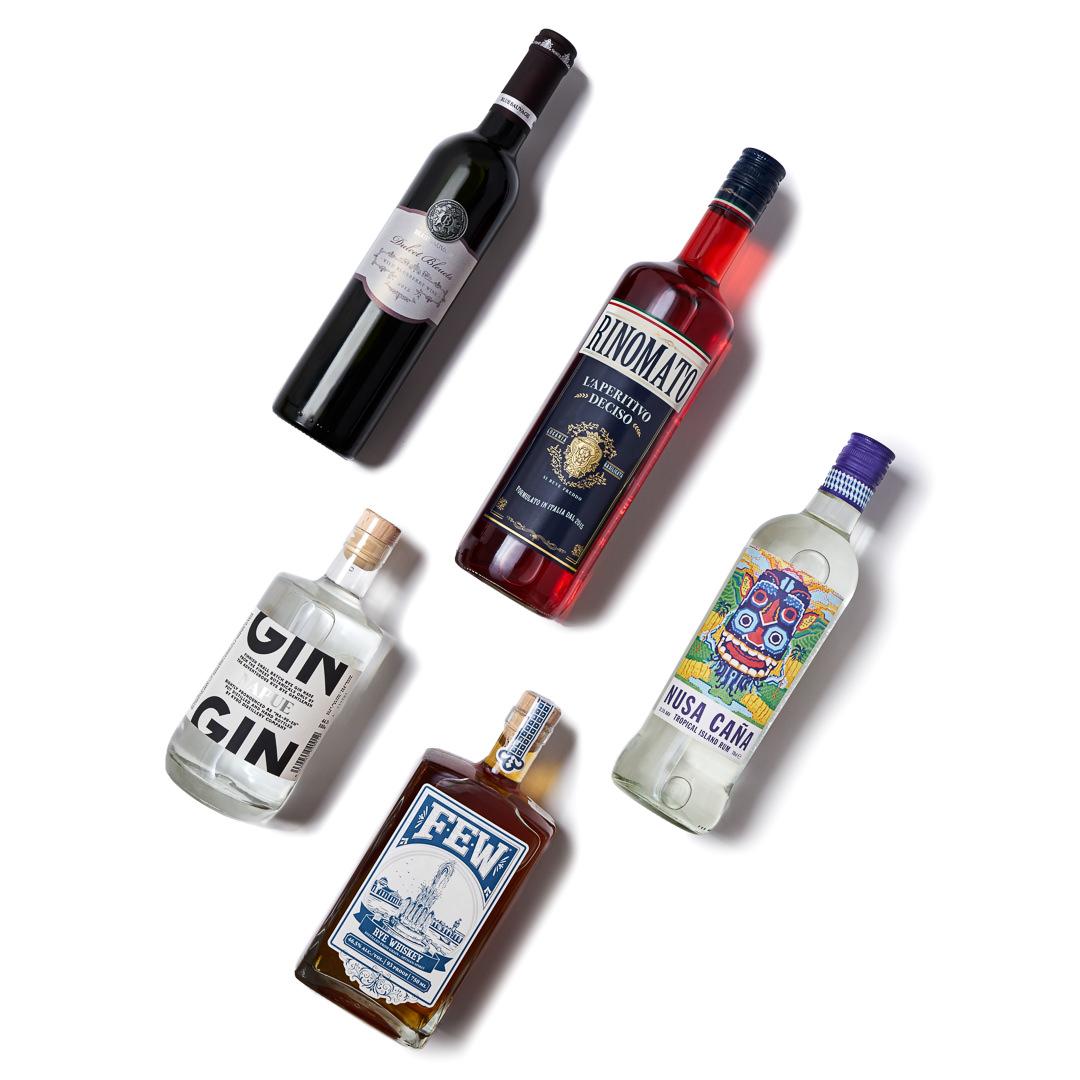 Drink Magazine 03 Spirits Collage Photography Setup Image
