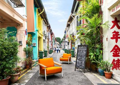 Editorial Photography Om Homes Singapore Haji Lane Orange Chairs