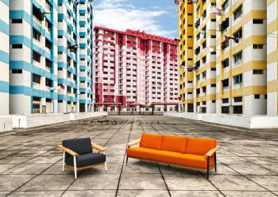 editorial photography of furniture at rochor centre in singapore