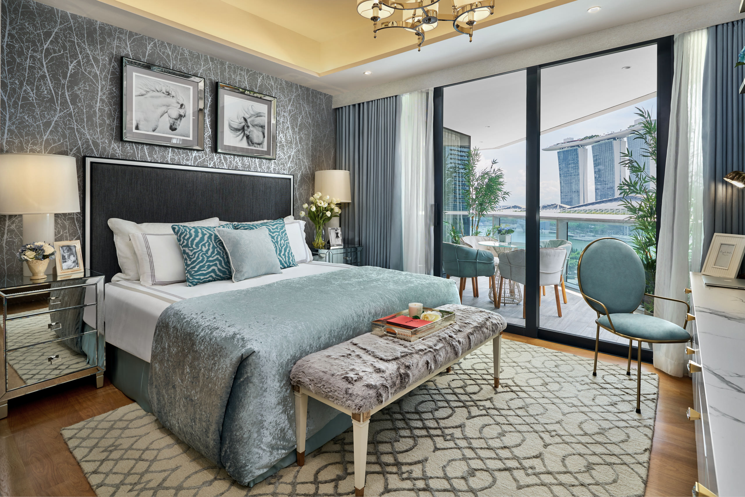 . Interior Design Photography at Marina Bay Suites Singapore
