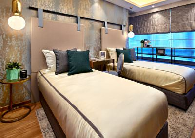 Interior Photography Marina Bay Suites Singapore - Guest Room
