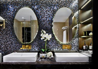 Interior Photography Marina Bay Suites Singapore - Master Bathroom