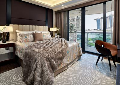 Interior Photography Marina Bay Suites Singapore - Master Bedroom