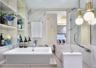 Interior Photography Marina Bay Suites Singapore - Walk-In Wardrobe cum Study Bathroom
