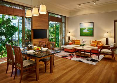Interior Photography Treetops Executive Residences Singapore - Living Room With Balcony