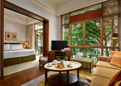 Interior Photography_-_Treetops Executive Residences Singapore_-_One Bedroom With Balcony Living Area