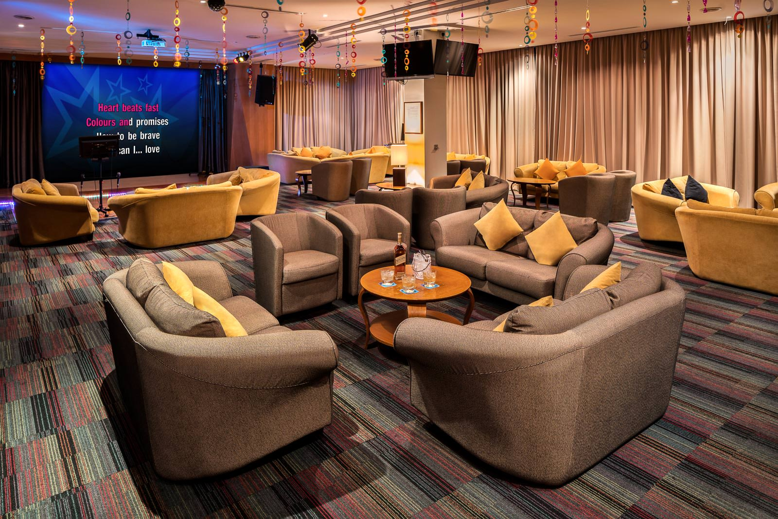 Photography for Seletar-Country Club Singapore - Karaoke Room Interior