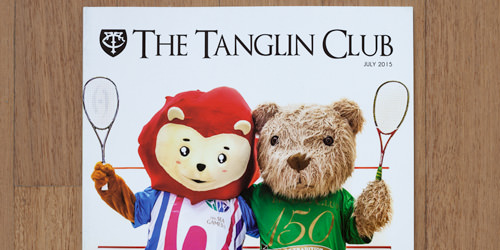 Photography for Tanglin Club Magazine Cover July 2015