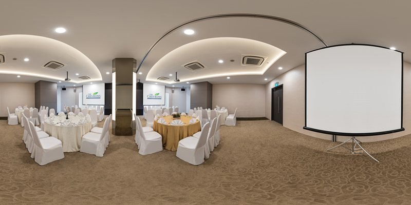 360 Virtual Tour for The Chevrons Sunflower Ballroom