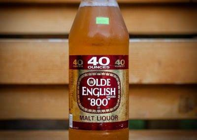 40oz of Olde English 800 Malt Liquor consumed in Michigan, U.S.A