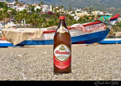 Alahambra 1 Litro.  Consumed in Nerja, Spain.