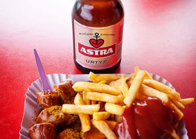 Astra Urtyp consumed with currywurst in Berlin, Germany
