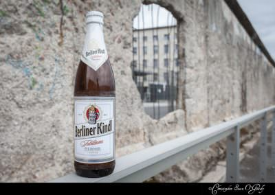 Berliner Kindl consumed in front of the Berlin Wall.