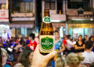 Bia Saigon consumed on Bui Vien (Beer Street) in Ho Chi Minh Cit