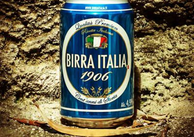 Birra Italia 1906 consumed on Favignana island off the coast of