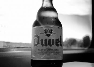 Duvel actually consumed in Belgium on a high speed train from Am