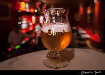 Duvel consumed at Dali's Bar in Brussels, Belgium.