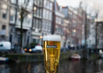 Heineken consumed in Amsterdam.