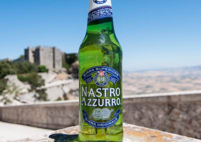 Nastro Azzurro consumed in Erice, Sicily.