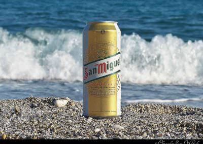 San Miguel.  Consumed in Nerja, Spain.