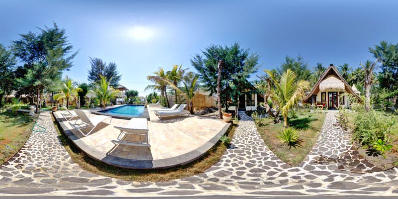 Virtual Tour of Orong Villages Hotel on Gili Air Island Indonesia